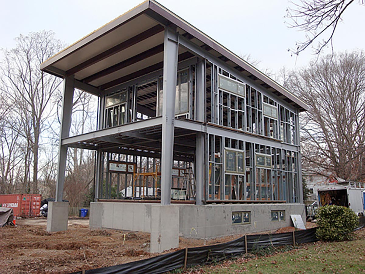 Steel frame prefab homes modular tiny buildings cool for Steel home plans designs